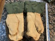 Military Issue Extreme Cold Weather Arctic Mittens With Nylon Liners Medium