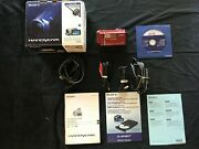 Sony Handycam Model Dcr-sx40 Camcorder 60x Optical W/ Box And Accessories