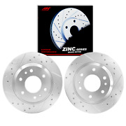 Front Zinc Drill And Slotted Brake Rotor For Ford Fusion 2013-2019