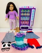 American Girl Doll Lot Clothes Shoes Vending Machine Food Accessories Earrings
