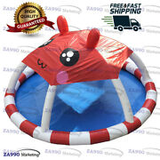 23ft Commercial Inflatable Pool With Shade Roof For Walking Ball With Air Pump