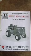 Wheel Horse Owners And Parts Manual D-160 D-180 D-200