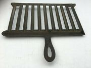 Antique Cast Iron Black Wood Cook Stove Grill 13 1/2 X 12
