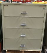 4 Drawer Fire King / Fireking Lateral Fireproof File Cabinet Mcid 76885