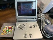 Gameboy Advance Sp With Charger Cord And Two Games, Yoshi And Kirbys Dreamland