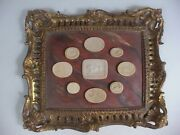 Chippendale Style Gold Gilded Frame W/ Plaster Intaglio Medallions Cameos 2of2