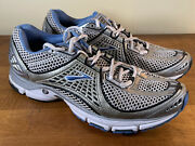 Brooks Trance 7 Women's Running Shoes Size 12 Med Blue Gray Silver Euc