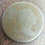 1795 Flowing Hair Large Cent Clear Date Eac Chocolate Brown Original