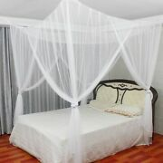 4 Corner Post Bed Canopy Full Queen King Size Mosquito Net Suit Bedroom Curtain