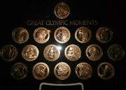 Rare Set Of 17 Olympic Moments Olympiad Coins W/ Display Holder