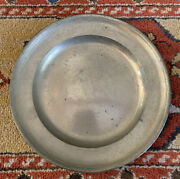 Antique 1806 Pewter Charger Plate 8.75 Inches Diameter With Stamp