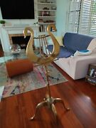 Vintage Brass Lyre Music Stand - Hand Made