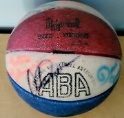 Vintage 1973-74 Aba Kentucky Colonels Team Signed Basketball Gilmore Issel