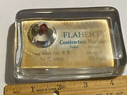 Old Glass Paperweight Gambling Dice Flaherty Construction Machinery Long Island
