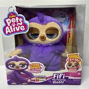 New Zuru Pets Alive Fifi The Flossing Sloth Dance Booty Wiggle Age3+ Free Ship