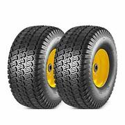 Maxauto 2 Pcs Lawn Mower Tires 15x6.00-6 With Wheel For Riding Mowers