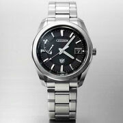 The Citizen Aq1050-50f Eco-drive Caliber A010 Sapphire Crystal Watch Black Dial