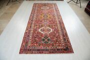 10and039 1x4and039 3 Antique Wide Runner Rug Soft Rustic Faded Red 4 X 10 Hallway Carpet