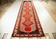 14and039 X 3and039 9 Excellent Hand-knotted Vintage Collectible Long Runner Rug Dark Navy