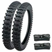 70/100-17 Tires Set 90/100-14 Rear Tire And Tube For Pit Dirt Bike 125cc 150cc 110