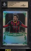 2017 Leaf Metal Sports Heroes Proof Prismatic Green Lionel Messi 1/1 Bgs Auth