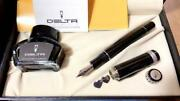 Delta Romeo And Juliet Forever Black Nib 14k M Fountain Pen. With Box And Ink.