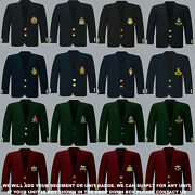 Units A To D Army Royal Navy Air Force Marines Regiment 8 Button Blazer To 52