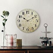 Large Farmhouse Wall Clock Rustic Quiet 12and039and039 Reclaimed Wood Map Antique