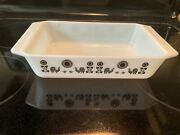 Rare Pyrex Black Rooster And Sunflower Casserole Dish 2 Quart 575-b No Lid