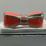 2pc House Of Sillage Limited Lipstick Case Coral Bow Crystal