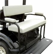 2 In 1 Combo Seat Kit And Golf Bag Carrier In White For Ezgo Rxv Golf Carts 2008+
