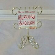 Vintage Doll House Brass Sheet Music Stand-merry Christmas Mip