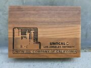 Unocal 76 Los Angeles Refinery Solid Wooden Box Precision Engraving Refinery