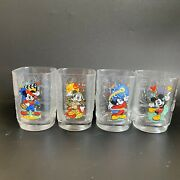 Disney Mcdonalds Mickey Mouse Set Of 4 2000 Glasses Cups
