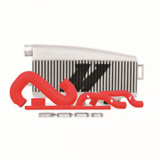 Mishimoto For Saab 9-2z 2005 2006 Intercooler Kit Top-mount Silver And Red Hoses