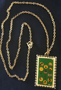 Vintage Girl Scout Stamp Pin Necklace 75th Birthday/anniversary 1987