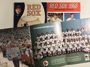Boston Red Sox Yearbook Lot 3 1963 1968 1976 W/pullout Team Photo All Original