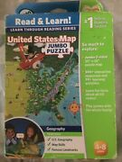 New Leapfrog Tag Reading Nteractive Us Map Jumbo Floor 2 Sided Geography Puzzle