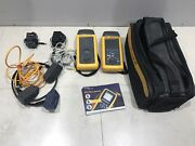 Fluke Dsp-4100 Cable Analyzer With Fluke Dsp-4100r Smart Remote And Accessories