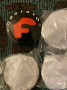 Set Of 4 Forgiato Floating Center Caps Black With Red F New Stylefits 60-61
