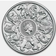 2021 2 Oz British Silver Queenandrsquos Beast Collection Completer Coin Bu