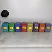 Lot Of 8 Vintage John Wagner And Sons 7/8 Oz Tea Tins Empty