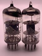 Matched Pair Telefunken Ecc81/12at7 Diamond On Bottom Germany Strong