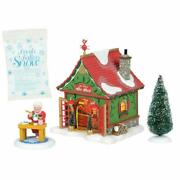 Dept 56 North Pole Village Mrs Clausand039s She Shed 4pc 6005434 Nrfb Silver Claus