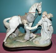 Large Lladro Porcelain Figurine 1776 Conquered By Love - Ltd Edition - Horse