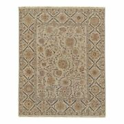 Feizy Amherst 7'9 X 9'9 Luxe Soumak Inspired Wool Area Rug In Ivory Cream