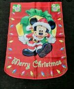 Merry Christmas Mickey And Friends Flag 28x40 The Hamilton Collection. New
