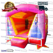13x10ft Inflatable Princess Bounce House With Roof With Air Blower
