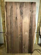 Table Top W33-7243 Live Edge Black Walnut Unfinished As Is