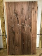 Table Top W36-7242 Live Edge Black Walnut Unfinished As Is